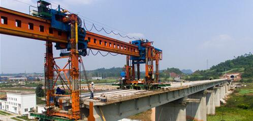 川藏铁路成雅段猫庙河2号特大桥架梁施工进度过半