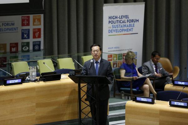中国代表呼吁积极推进落实2030年议程