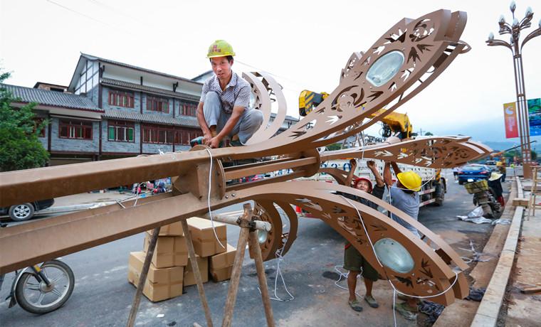 雅碧路路灯安装启动 预计本月底完工