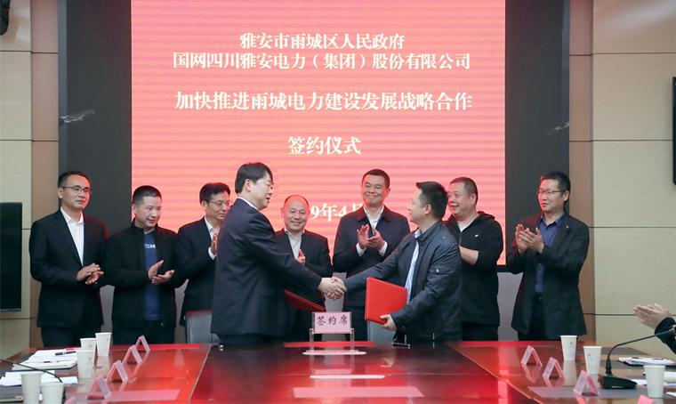 雅电集团与雨城区政府签订协议  加快推进电力建设发展战略合作