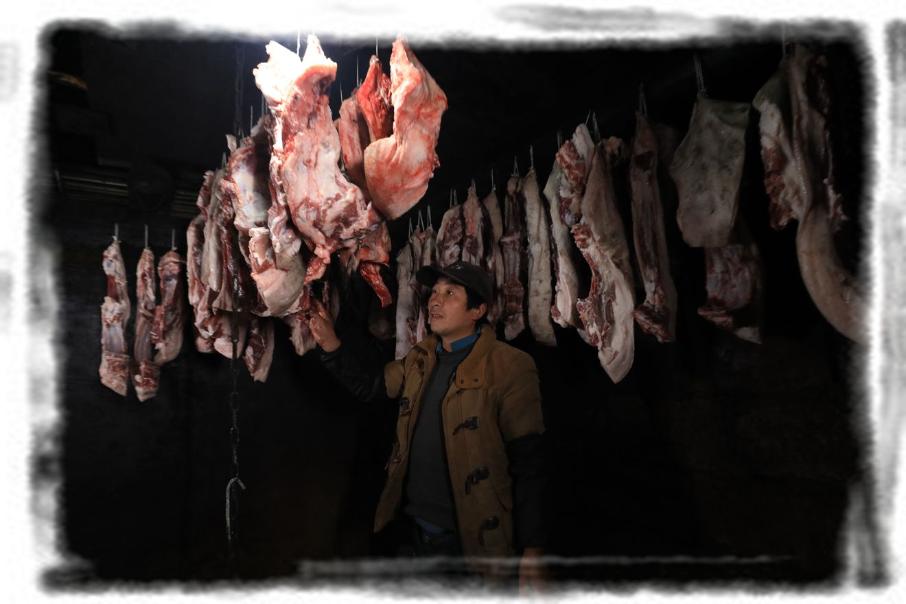 汉源县永利彝族乡古路村脱贫户李树才:去年销售额20余万元 迎春节杀了6头年猪